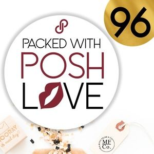 "96 Posh Packaging Sticker Labels 2"" Round Poshmark"
